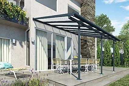 Fonteyn - Canalón de Aluminio para terraza (430 x 300 cm): Amazon.es: Jardín