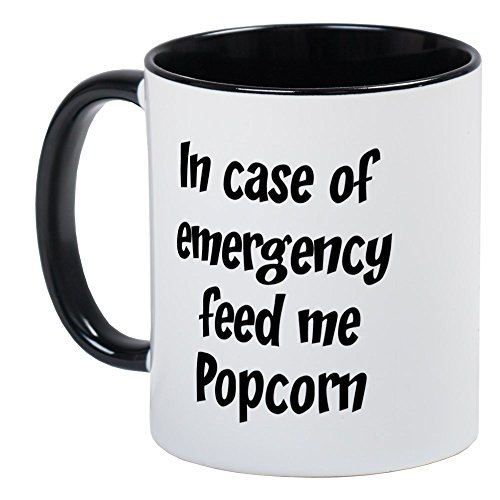 Personalized Microwave Popcorn - CafePress - Feed Me Popcorn Mug - Unique Coffee Mug, Coffee Cup