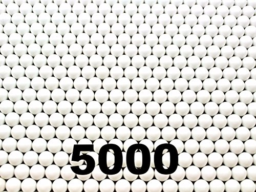 Seamless Airsoft Bbs (5000 Count .20g White Competition Grade Plastic Seamless 6mm Airsoft BBs)