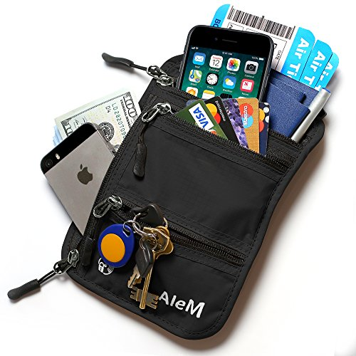 travel neck wallet and passport holder hidden