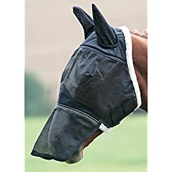 Shires Field Durable with Ears and Nose Fly Mask Small Pony Black