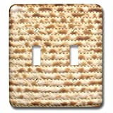 InspirationzStore Judaica - Matzah bread texture photo - for passover pesach - funny Jewish humor - humorous matzo Judaism food - Light Switch Covers - double toggle switch (lsp_112943_2)