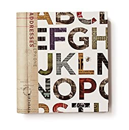 FRINGE STUDIO Alphabet Address Book, 7 x 7.5 Inches (983002)