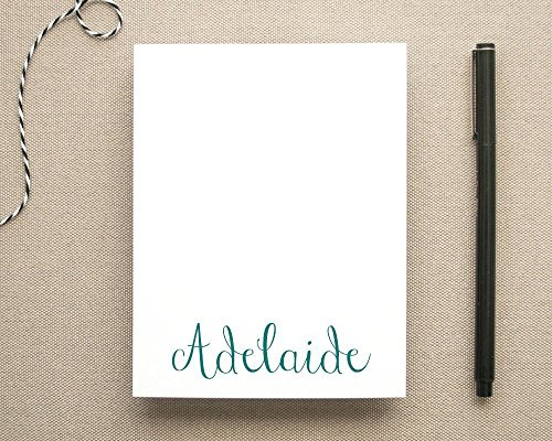 Personalized Feminine Notepad with Name/Casual Script Stationery Pad/Custom Notepad for Women (Custom Stationery)