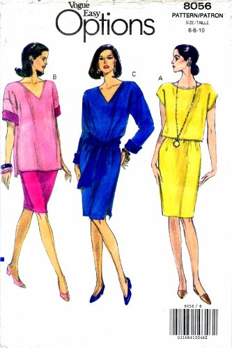 Uncut Vintage Vogue Pattern Dress - 8