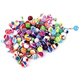 neon belly button rings - BodyJ4You Assorted Lot of 100 Belly Button Rings 14G (1.6mm) Curved Banana Barbell Navel Piercing Jewelry