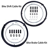 Wolfride Universal Bicycle Bike Shift and Brake Cable Set Bike Cable and Housing Kit