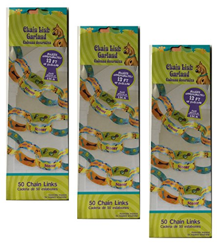 Scooby Doo Paper Chain Links Birthday Party Garland Decorations 39 Feet Long for $<!--$6.99-->