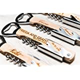 Bridesmaid Gift Corkscrew Wine Beer Bottle Opener Personalized Engraved Part Favor Groomsman Maid of Honor Guests Bridal Bulk Free Shipping