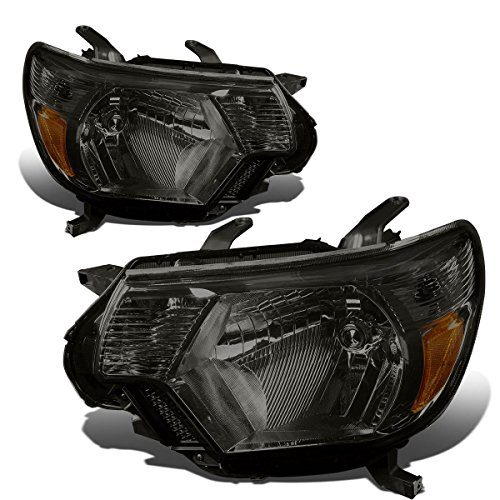 Toyota Tacoma 2nd Gen Facelifted Pair of Headlights (Smoke Lens Amber Corner)