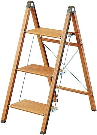 Escaleras plegables Escalera plegable, taburete casero estrecho, escalera de escalada de aluminio de tres niveles, estante para flores, con capacidad de carga de hasta 100 kg: Amazon.es: Hogar