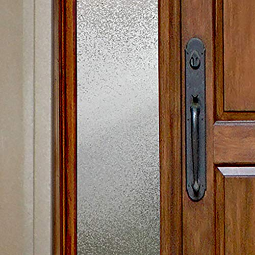 Gila Privacy Décor Ice Chips Sidelights Entryway Residential Window Film DIY Static Cling No Glue No Adhesive 1ft x 6.5ft (12in x 78in) (6.5 sq ft)