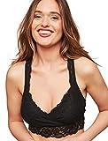 Motherhood Maternity Women's Lace Racerback Nursing Sleep Bralette, Black, Extra Large