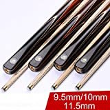 BEASTY 3/4 Snooker Cues,9.5mm Tip Snooker Cue Stick with Extension Ash Shaft