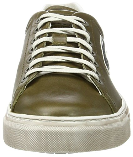 camel active Men's Bowl 22 Low-Top Sneakers, Black Green (Olive/White 06)