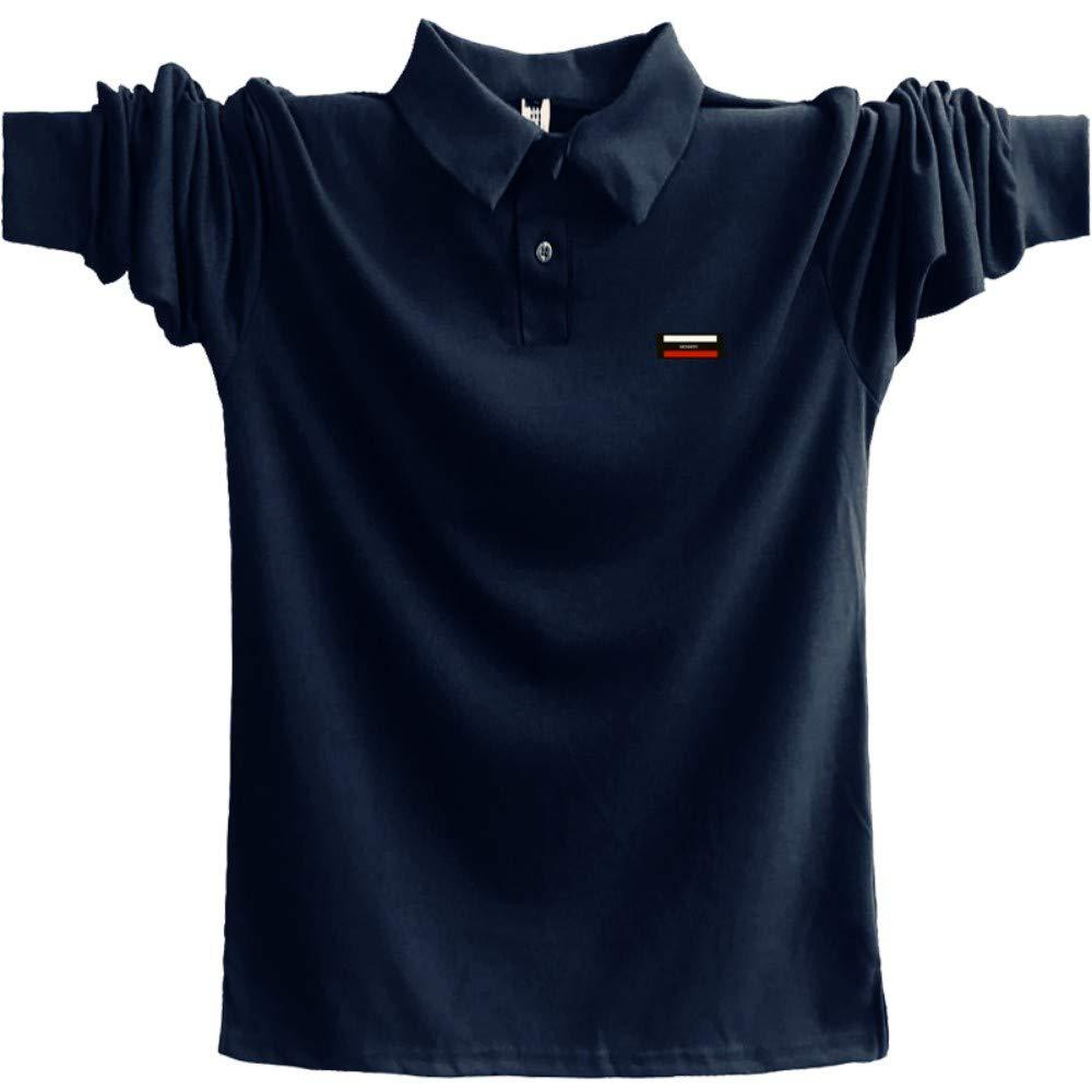 NISHIPANGZI Polo Shirt Hombres Otoño Invierno Montar Polo para ...