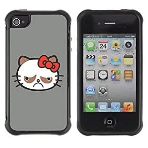 Hybrid Anti-Shock Defend Case for Apple iPhone 4 4S / Bear Shark