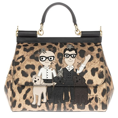 Dolce Gabbana Women's Dolce & Gabbana Medium 'Sicily' Family/Pets Leopard-Print Handbag - And Dolce Bags 2014 Gabbana