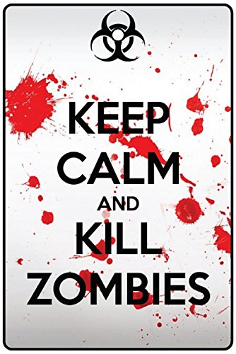 Keep Calm And Kill Zombies/Halloween Car Air Freshener ()