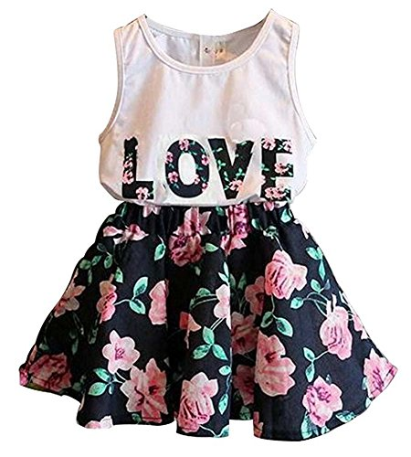 Price comparison product image BomDeals Adorable Cute Toddler Baby Girl Clothing 2pcs Top&pants Outfits (3-4 Years, Floral)