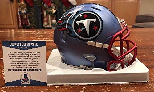 Signed Titans Mini Helmet (Demarco Murray Signed Tennessee Titans Blaze Mini Helmet Beckett & Gtsm)