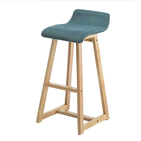 Surprising Amazon Com He Yan Long Home Bar Stools Solid Wood Bar Machost Co Dining Chair Design Ideas Machostcouk