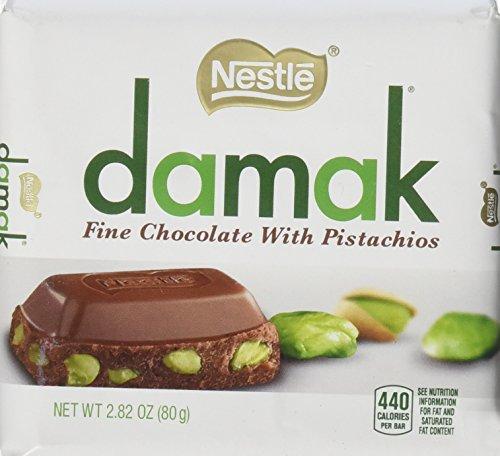 Nestle Damak Milk Chocolate with Pistachio 3 80g Bar Pack - Halal - Made in Turkey (Bar Pistachio)