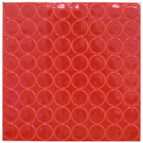 Reflective Hot Dot, 1 Inch Diameter, 64ct Per Sheet (Red) by ColorfulCritters