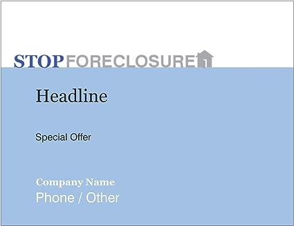 amazon com vistaprint blue foreclosure quarter page flyers