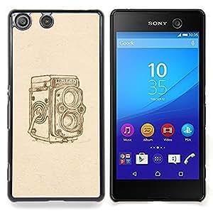 For Sony Xperia M5 E5603 E5606 E5653 Case , Hipster Vintage Retro Beige Foto - Diseño Patrón Teléfono Caso Cubierta Case Bumper Duro Protección Case Cover Funda