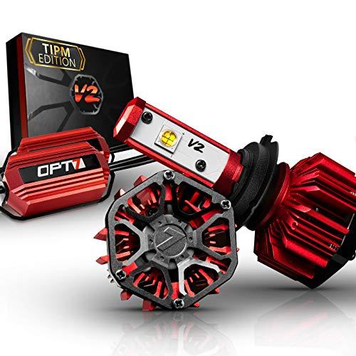 OPT7 FluxBeam H7 LED Headlight Kit w/Clear ARC-Lens Beam Bulbs & TIPM Resistor Kit - 60w 7,000Lm 6K Cool White CREE– for Dodge, Ram, Jeep, Chrysler