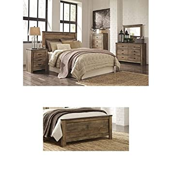 Ashley Furniture Signature Design   Trinell Bedroom Set   Casual Queen  Panel Bedset   Brown