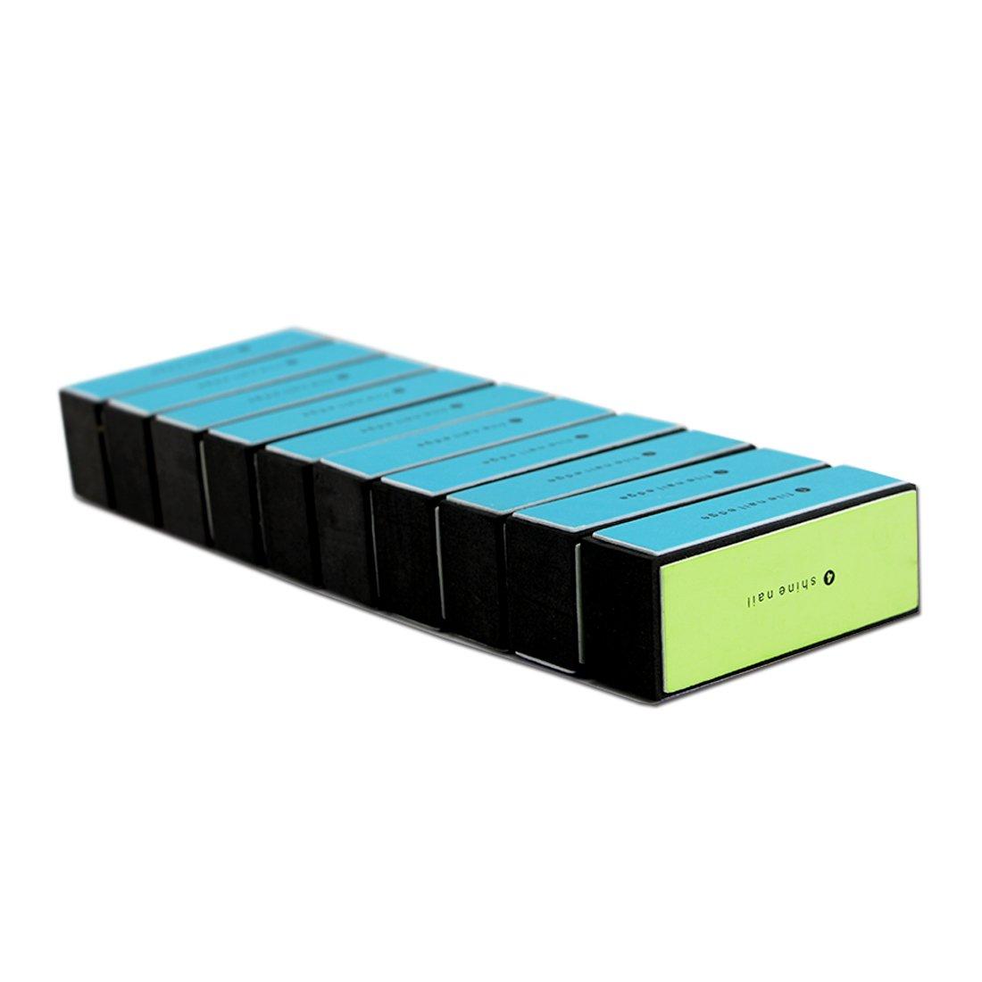 Amazon.com : EZGO 10 Pieces Large Size 4 Way Shiny Nail Block, 4 ...