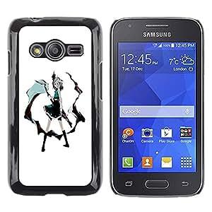Caucho caso de Shell duro de la cubierta de accesorios de protección BY RAYDREAMMM - Samsung Galaxy Ace 4 G313 SM-G313F - Sexy Girl