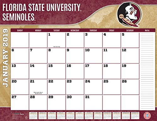 Turner 1 Sport Florida State Seminoles 2019 22X17 Desk Calendar Office Desk Pad Calendar (19998061478)