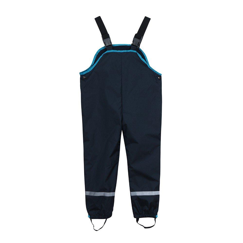 Vincent&July Boys Girls Children Kids Black Waterproof Raincoat Waterproof Pants 18M-7T (4T(3-4Years Old))