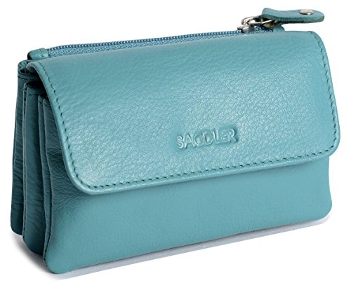 SADDLER Teal Triple Gusset Purse with Additional Rear Zipped Coin Section