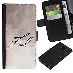 All Phone Most Case / Oferta Especial Cáscara Funda de cuero Monedero Cubierta de proteccion Caso / Wallet Case for Samsung Galaxy S5 Mini, SM-G800 // Feel Calligraphy Paper Handwritten Note Ink
