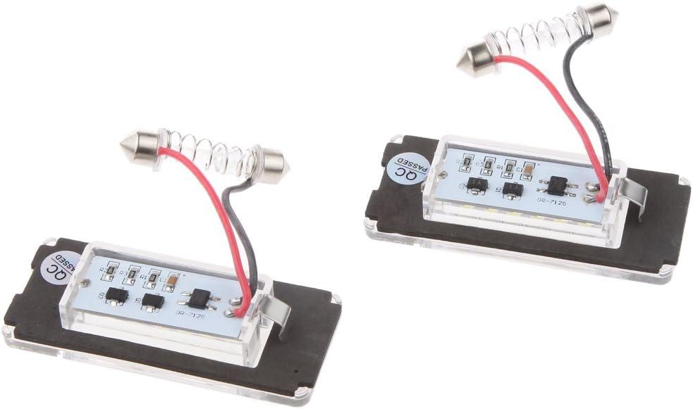 2x 3528 18-SMD LED Luces de Matrícula Seguridad Para BMW Mini ...