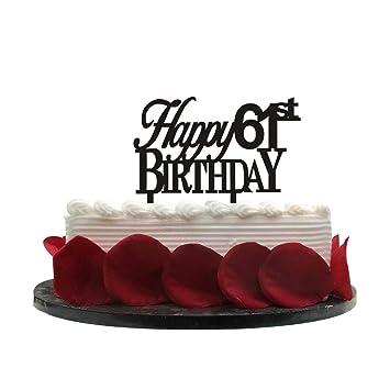 Minhero Lee Happy 61st Birthday Cake Topper