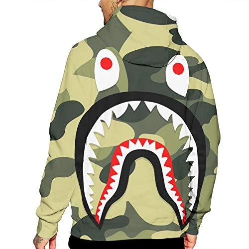 7956c939 Bathing Ape Bape Shark Jaw Camo Full Zipper Hoodie Men's Sweats Coat Jacket  at Amazon Men's Clothing store: