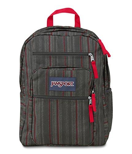 JanSport Big Student Classics Series Backpack – RED TAPE GRUNGE STRIPE