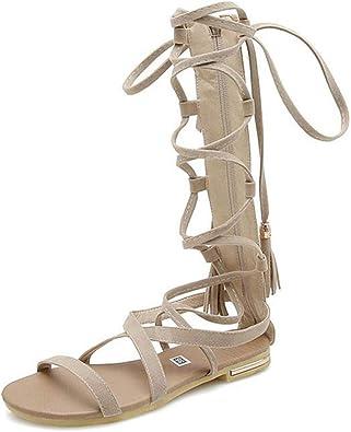 Womens Gladiator Jeweled Sandals Roman Flats T-Strap sz 5-8,