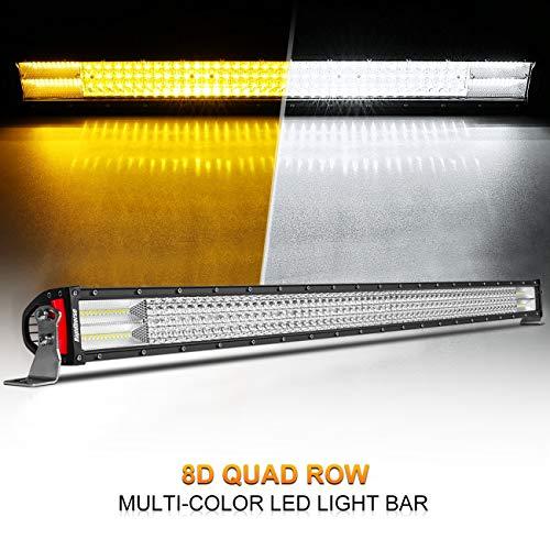 LED Light Bar Rigidhorse Dual Color Quad Row 50Inch 670W Lig