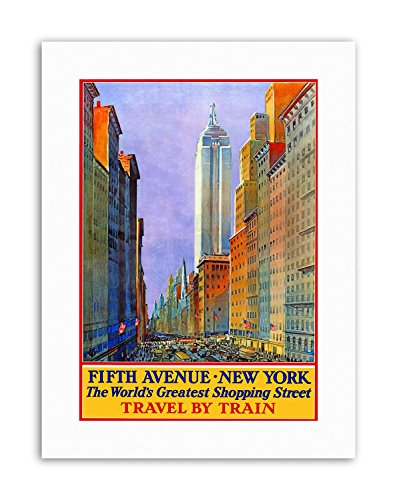 Wee Blue Coo New York City Fifth Avenue Shop Store Rail USA Travel Canvas Art ()