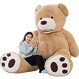 ikasa giant teddy bear plush toy stuffed animals brown, 78 inches