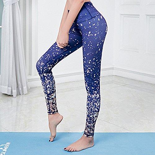 JIALELE Pantalon De Yoga Services De Remise En Forme Bien Étoiles Campagne Timbres Tournant Serré Pantalon Yoga Femme Vêtements Fitness
