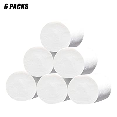 Cloudro ❤️ Multifold Paper Septic-Safe Bath Tissue,6 Rolls Paper Towels Soft Toilet Paper White Household Four-Layer Paper: Home & Kitchen