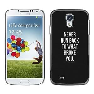 Violencia Negro Blanco Recuerde Hurt- Metal de aluminio y de plástico duro Caja del teléfono - Negro - Samsung Galaxy S4