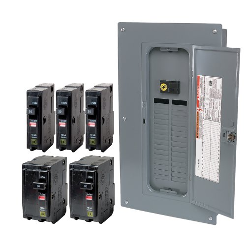 Schneider Electric QO32M100VP QO 100-Amp 32-Space 32-Circuit Indoor Main Breaker Load Center with Cover Value Pack